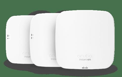 three aruba home wireless access points